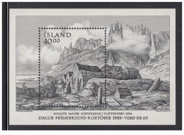 Islanda - 1988 - Nuovo/new MNH - Giornata Del Francobollo - Mi Block N. 9 - Unused Stamps