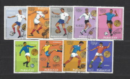 Paraguay - 1970 - Usato/used - Calcio - Mi N. 1951/59 - Calcio