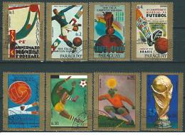 Paraguay - 1977 - Usato/used - Calcio - Mi N. 2974/81 - Calcio