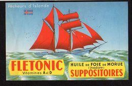 """Publicité Pharmaceutique Laboratoires Serozym Huile De Foie De Morue  / Bateau,Voilier 2 Mats """"Pêcheurs D'Islande"""" - Publicités"""