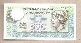 """Italia - Banconota Non Circolata FdS Da 500 £ """"Mercurio"""" P-94a.2 - 1979 - 500 Lire"""