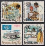 Guinea 1966 Sc. 449/452 Inauguration  Of WHO Headquarters. Ginevra OMS Full Set CTO - WHO