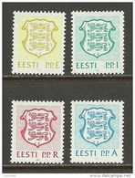 ESTLAND Estonia Estonie 1992 Michel 176 - 179 MNH - Estonia