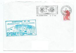 JP 57 - PH JEANNE D'ARC - AE CDT BOURDAIS - 1986 - ESCALE DU SYDNEY - Naval Post
