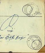 Doc. De  HOFSTADE (BRABANT) Le 26/04/1957  Juste 8 Ans Avant Ma Venue  !!! - Cachets à étoiles