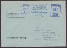 """LEIPZIG Propaganda AFS """"Durch Frieden Zu Wohlstand!"""" 1959, Sparen Hilft Dem Aufbau - Marcofilie - EMA (Print Machine)"""