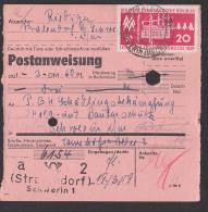 Stralendorf über Schwerin 20 Pf Messe 1959 Kombinat Schwarze Pumpe PA 1959, Interne Verwendung - DDR