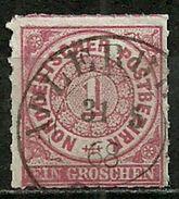 Nordd. Postbezirk, Nr. 4, Gestempelt - Norddeutscher Postbezirk