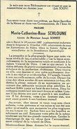 Marie Catherine Rose Schloune épouse De Josephe Schmitz Buret 1887 1959 - Houffalize