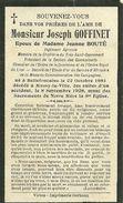 Joseph Goffinet époux De Jeanne Bouté Bellefontaine 1881 Mussy La Ville 1928 - Tintigny