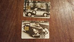2 Telecartes Thème Automobile République Tchèque - Automobili