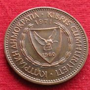 Cyprus 5 Mils 1971 KM# 39 Chipre Zypern - Cyprus