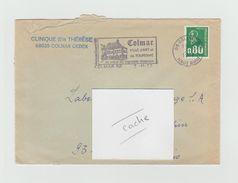 LSC 1977 - COLMAR - Flamme Colmar Ville D'art Et De Tourisme Au Coeur Du Vignoble Alsacien - Marcophilie (Lettres)