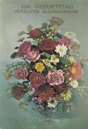 ZUM GEBURTSTAG. BOUQUET FLORES FLOWERS FLEURES. KRUGER. VOYAGEE-TBE-BLEUP - Bloemen