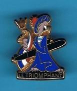 1 PIN'S  //  ** SOUS-MARIN ** LE TRIOMPHANT ** NAVIRE DE TÊTE DE LA CLASSE (SNLE) FRANÇAIS ** . (Arthus Bertrand Paris) - Militaria