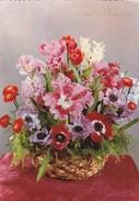SINCERI AUGURI. BOUQUET FLEURES FLORES FLOWERS. ED SAEMEC. CIRCULE TORINO TO GIAVENO-TBE-BLEUP - Bloemen