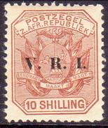 SOUTH AFRICA TRANSVAAL 1900 SG #236 10sh MH Opt V.R.I. CV £13 Thin - South Africa (...-1961)