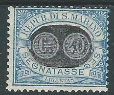 1931 SAN MARINO SEGNATASSE SOPRASTAMPATO 40 SU 30 CENT MH * - R6-7 - Segnatasse