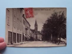 Ambérieu (Ain) GRANDE RUE ( Pittion - Epicerie ) Anno 1909 ( Zie Foto's Voor Details ) !! - France