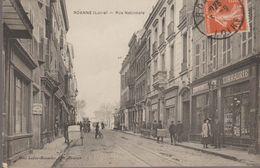 Roanne (loire) Rue Nationale  (librairie) Ed Mme Lafay-besacier - Roanne