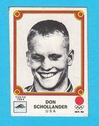 PANINI OLYMPIC GAMES MONTREAL '76. No. 83. DON SCHOLLANDER - USA Swimming Juex Olympiques 1976 * Yugoslav Edition - Swimming