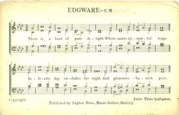 LANCS - SONG CARD - EDGWARE  La3076 - Inghilterra