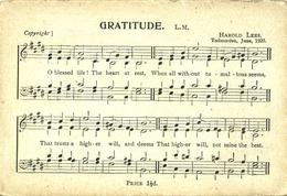 LANCS - SONG CARD - GRATITUDE  La3079 - Inghilterra
