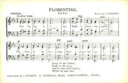 LANCS - SONG CARD - FLORENTINE  La3080 - Inghilterra