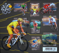 FRANCE 2013 - Les N° 4755 à 4762 - 8 TIMBRES NEUFS** 100e Edition Du Tour De France - F4755 - Parf. Etat - France
