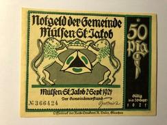 Allemagne Notgeld Mulsen 50 Pfennig - [ 3] 1918-1933 : République De Weimar