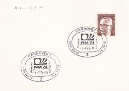 Germany Card 1974 Hannover FIFA World Cup Football  (DD9-40) - Coppa Del Mondo