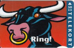 DENMARK - Ring, Bull, CN : 2106, 05/95, Used - Denmark