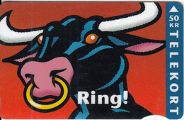 DENMARK - Ring, Bull, CN : 1106, 05/95, Used - Denmark