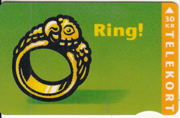 DENMARK - Ring, Ring, CN : 5500(brown Magnetic Strip), 01/96, Used - Denmark