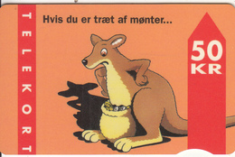 DENMARK - Kangaroo, CN : 4104(brown Magnetic Strip), Tirage %25000, 01/95, Used - Denmark