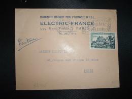 LETTRE TP UZERCHE 18F OBL.MEC.13-11-1957 PARIS TRI ET DISTRIBUTION N°1 + ELECTRIC FRANCE ELECTRICITE ET TSF - Marcofilia (sobres)