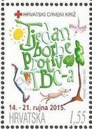 HR 2015-ZZ142 RED CROSS-TBC, HRVATSKA CROATIA, 1 X 1v, MNH - Kroatien