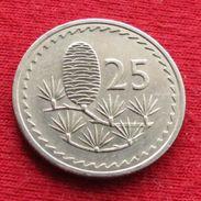 Cyprus 25 Mils 1977 KM# 40 Chipre Zypern - Chypre