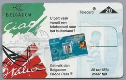 BE.- België. Telecard.- BELGACOM. U Belt Vaak Vanuit Een Telefooncel ....? Gebruik Dan Belgacom Phone Pass. 801H91028 - GSM-Kaarten, Herlaadbaar & Voorafbetaald
