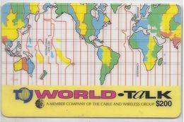 JAMAICA - WORLD TIME MAP YELLOW - Jamaica
