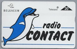 BE.- België. Telecard.- BELGACOM. Radio CONTACT. - 607E96636. Dolfijn. - GSM-Kaarten, Herlaadbaar & Voorafbetaald