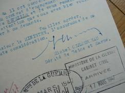 Michel CLEMENCEAU (1873-1964) Député 77 Moret Sur Loing. Fils GEORGES Clémenceau. AUTOGRAPHE - Autografi