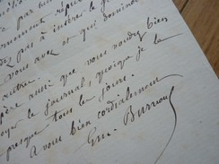 Emile Louis BURNOUF (1821-1907) INDOLOGUE. Sanskrit. Directeur Ecole ATHENES. Orientaliste. AUTOGRAPHE - Autographs