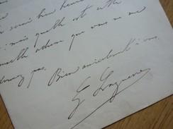 Georges LAGUERRE (1858-1912) Avocat ANARCHISTE Louise MICHEL, Emile POUGET... - AUTOGRAPHE - Autographes