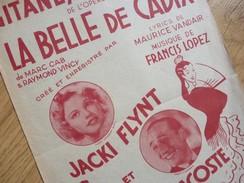 Jacky FLYNT (née 1923) Opérette LA BELLE DE CADIX (Luis Mariano). AUTOGRAPHE - Autographs