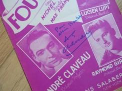 André CLAVEAU (1911-2003) 1er Vainqueur EUROVISION Français 1958. Opérette ... AUTOGRAPHE - Autógrafos