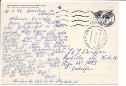 Mi P 292 Postcard Stationery Carte Postale - 21 October 1994 Domestic Animals Badger Sparrow Bird - Postal Stationery