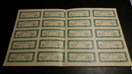 Planche De Tickets Billets Exposition Internationale Des Arts Décoratifs Et Industriels Paris 1925, Parfait état - Tickets D'entrée