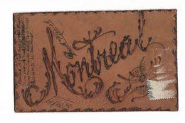 """Carte  De  Cuir    -  """"  Montreal   ) - Cartes Postales"""