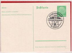 Ganzsache Privat 5 Pfennig Hindenburg Postwertzeichenschau Sonderstempel Litzmannstadt 1942 - Germania